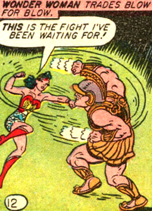 Classic Wonder Woman panel borrowed from SUPERDAMES!