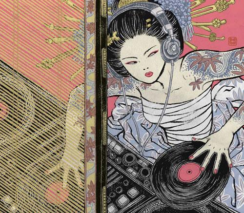 DJ Geisha by - Yuko Shimizu